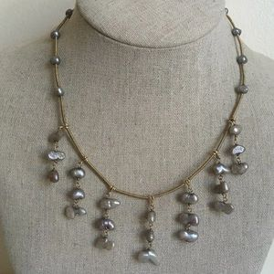 Jewelry - Gold Over Silver Pearls Necklace